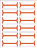 Acme Abgor Compatible Wrap-Around File Folder Labels, Orange