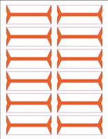 Wrap-Around Name Labels Orange Pack/240