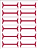 Acme Abgor Compatible Wrap-Around File Folder Labels, Red
