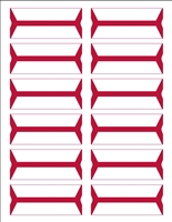 Wrap-Around Name Labels Red Pack/240