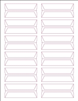 Acme Abgor Compatible Wrap-Around File Folder Labels, White