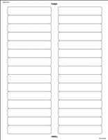 "Avery Compatible Laser Name Labels, 2/3""H x 3-7/16""W, White, 750/Pk"