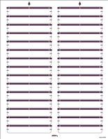"Avery Compatible Laser Name Labels, 2/3""H x 3-7/16""W, Purple, 750/Pk"