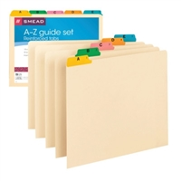 Smead Guides, Multi-Colored Fused Poly 1/5-Cut (A-Z), Letter (50180)