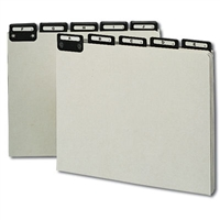 Smead Pressboard Guides, Metal 1/3-Cut Tab with Insert (A-Z) (50576)