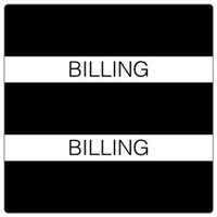 Patient Chart Index Tabs, Billing, Black, 1-1/2 x 1-1/2, 102/Pk (52102)
