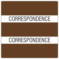 Patient Chart Index Tabs, Correspondence, Brown, 1-1/2 x 1-1/2, 102/Pk (52103)
