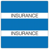Patient Chart Index Tabs, Insurance, Lt Blue, 1-1/2 x 1-1/2, 102/Pk (52109)
