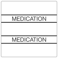 Patient Chart Index Tabs, Medication, White, 1-1/2 x 1-1/2, 102/Pk (52114)