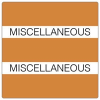 Patient Chart Index Tabs, Miscellaneous, Orange, 1-1/2 x 1-1/2, 102/Pk (52115)