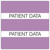 Patient Chart Index Tabs, Patient Data, Lavender, 1-1/2 x 1-1/2, 102/Pk (52117)