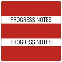 Patient Chart Index Tabs, Progress Notes, Red, 1-1/2 x 1-1/2, 102/Pk (52119)