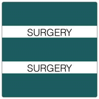 Patient Chart Index Tabs, Surgery, Turquoise, 1-1/2 x 1-1/2, 102/Pk (52121)