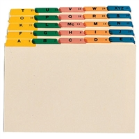 Smead Guides, Multi-Colored Fused Poly 1/5-Cut (A-Z), Legal (52180)