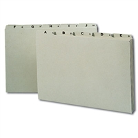 Smead Pressboard Guides, Plain 1/5-Cut Tab (A-Z), Legal (52376)