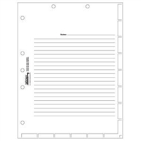 Medical Chart Index Divider Sheets, White, 11 x 8-1/2, 100/Pk