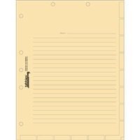Medical Chart Index Divider Sheets, Manila, 11 x 8-1/2, 100/Pk