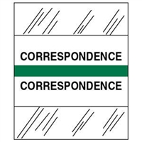 Medical Chart Index Tabs, Correspondence, Green, 1/2 x 1-1/4, 100/Pk (54524)