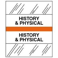 Medical Chart Index Tabs, History & Physical, Orange, 1/2 x 1-1/4, 100/Pk (54528)