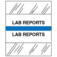 Medical Chart Index Tabs, Lab Reports, Lt Blue, 1/2 x 1-1/4, 100/Pk (54530)