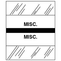 Medical Chart Index Tabs, Misc., Black, 1/2 x 1-1/4, 100/Pk (54533)