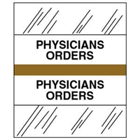 Medical Chart Index Tabs, Physicians Orders, Gold, 1/2 x 1-1/4, 100/Pk (54538)