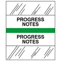Medical Chart Index Tabs, Progress Notes, Lt. Green, 1/2 x 1-1/4, 100/Pk (54539)