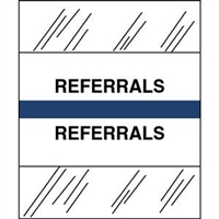 Medical Chart Index Tabs, Referrals, Dk Blue, 1/2 x 1-1/4, 100/Pk (54540)