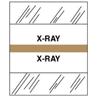 Medical Chart Index Tabs, X-RAY, Tan, 1/2 x 1-1/4, 100/Pk (54542)