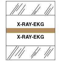 Medical Chart Index Tabs, X-RAY/EKG, Tan, 1/2 x 1-1/4, 100/Pk (54543)
