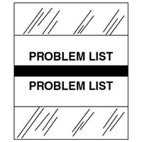 Medical Chart Index Tabs, Problem List, Black, 1/2 x 1-1/4, 100/Pk (54545)