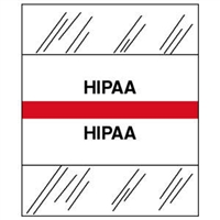 Medical Chart Index Tabs, HIPAA, Red, 1/2 x 1-1/4, 100/Pk (54546)