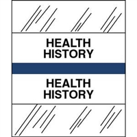 Medical Chart Index Tabs, Health History, Dk Blue, 1/2 x 1-1/4, 100/Pk (54547)