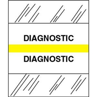 Medical Chart Index Tabs, Diagnostic, Yellow, 1/2 x 1-1/4, 100/Pk (54553)