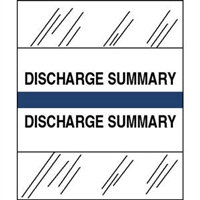 Medical Chart Index Tabs, Discharge Summary, Dk Blue, 1/2 x 1-1/4, 100/Pk (54554)