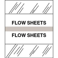 Medical Chart Index Tabs, Flow Sheets, Gray, 1/2 x 1-1/4, 100/Pk (54556)