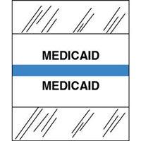 Medical Chart Index Tabs, Medicaid, Lt Blue, 1/2 x 1-1/4, 100/Pk (54561)