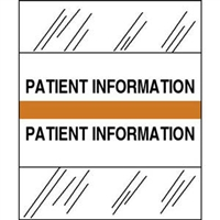 Medical Chart Index Tabs, Patient Information, Orange, 1/2 x 1-1/4, 100/Pk (54569)