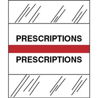 Medical Chart Index Tabs, Prescriptions, Red, 1/2 x 1-1/4, 100/Pk (54573)