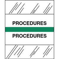Medical Chart Index Tabs, Procedures, Green, 1/2 x 1-1/4, 100/Pk (54575)