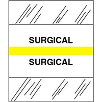 Medical Chart Index Tabs, Surgical, Yellow, 1/2 x 1-1/4, 100/Pk (54577)