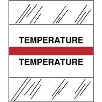 Medical Chart Index Tabs, Temperature, Red, 1/2 x 1-1/4, 100/Pk (54579)