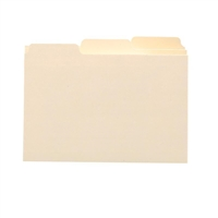 Smead Card Guide, Plain 1/3-Cut Tab (Blank), 5x3, Manila (55030)