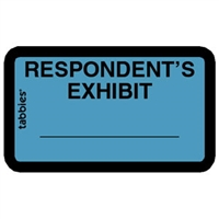 Legal Exhibit Labels 58027, Respondent's Exhibit, 1-5/8 x 1, Blue 252/Pack