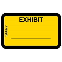 Legal Exhibit Labels 58090, Exhibit, 1-5/8 x 1, Yellow 252/Pack