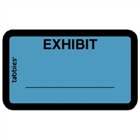 Legal Exhibit Labels 58091, Exhibit, 1-5/8 x 1, Blue 252/Pack