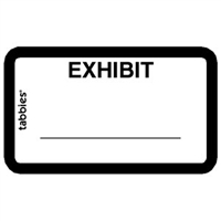 Legal Exhibit Labels 58092, Exhibit, 1-5/8 x 1, White 252/Pack