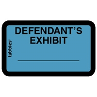 Legal Exhibit Labels 58093, Defendant's Exhibit, 1-5/8 x 1, Blue 252/Pack