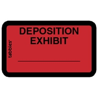 Legal Exhibit Labels 58095, Deposition Exhibit, 1-5/8 x 1, Red 252/Pack