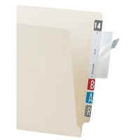 "Tabbies Label/File Protector 4""W x 2""H Clear 500/Box (58485)"